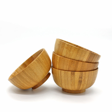 bamboo Candy Walnut Round bowl Dish bowl handmade Salad Bowl Brown Natural Wood Serving child Popular Kitchen utensils no paint