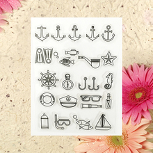 Small Fish Today Transparent Clear Stamp For DIY Scrapbooking Decorative card making craft Fun Decoration Supplies