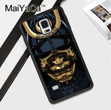 Japan Samurai Mask Soft Rubber Cell Phone Case OEM For Samsung S3 S4 S5 S6 S7 edge S8 plus Note 3 Note 4 Note 5 Cover Skin