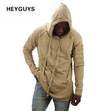 HEYGUYS new design hoodie ripped damage men color fashion sweatshirts brand original design casual pullover autumn hip hop(China)
