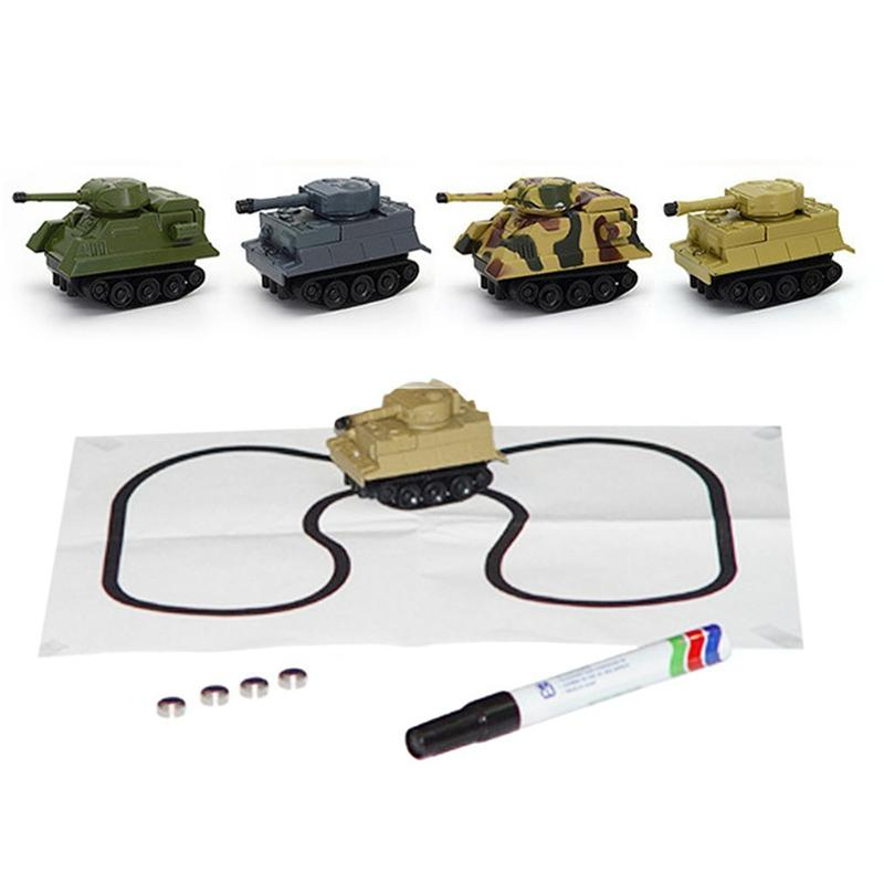 1 Set Kids Children Vehicle Toy Truck Inductive Tank Toys Automatic Novelty Follow-Line You Draw Cars For Kids Christmas Gift 12