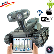 WIFI RC Tank  Radio Control Robot Car Real-Time Camera Cars for iPhone Android App Controller with 0.3MP Camera Electronic Toy