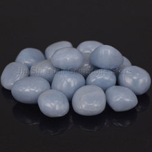 Bulk Tumbled Blue Angelite Stones from Peru Natural Polished Gemstone Supplies for Wicca, Reiki, and Energy Crystal Healing(China)