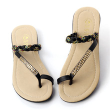 Free Shipping Best Sale Ladies Thong Flip Flop Flat Slide Slipper Woman Summer 2017 Beach Leisure Comfort Sandals Plus Size