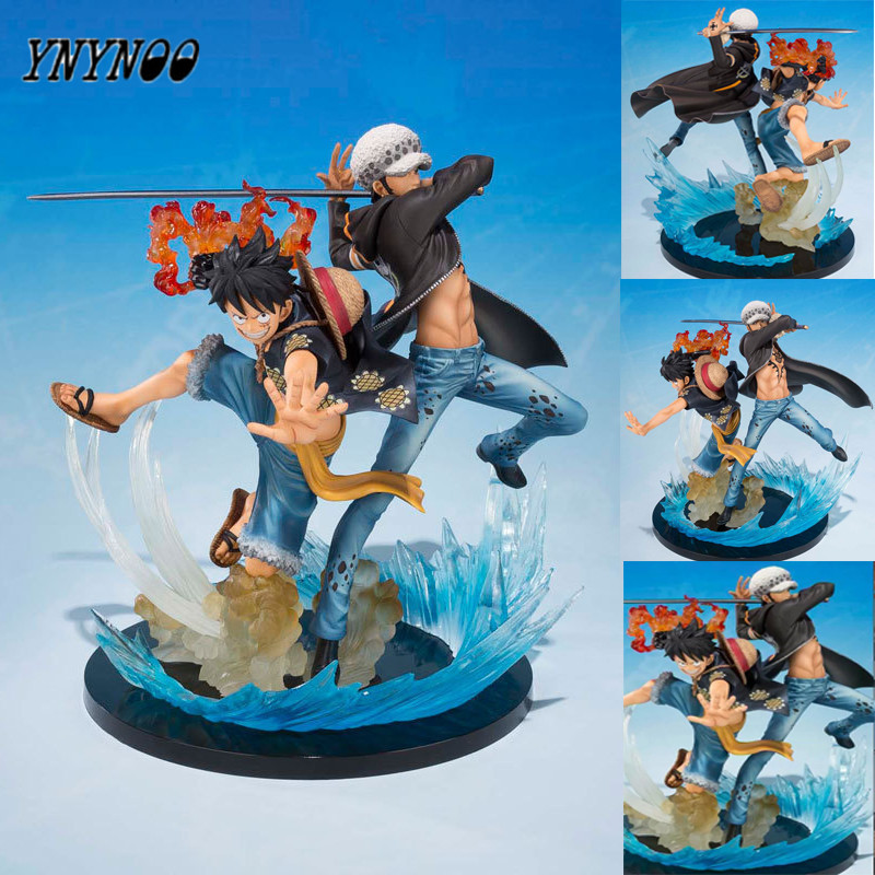 YNYNOO One Piece Figure Luffy Law 5th Anniversery Action Figure 16CM Luffy Trafalgar Law Figurine One Piece Juguetes Model Doll<br>
