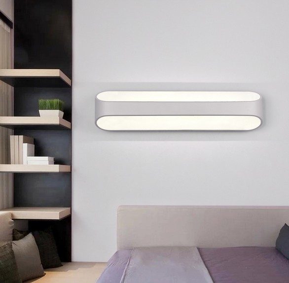 mirror with integrated lighting. Simple Modern Mirror Wall Sconce Creative LED Light Fixtures For Home Lighting Bedside Lamp Integrated Lampe Murale With