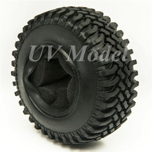 "4pcs 100mm 1.9"" Rubber Rocks Tyres / Wheel Tires For SCX10 D90 RC Rock Crawler Car 1:10 Monster Truck RC On-Road Car Parts"