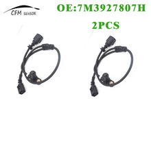 2pcs ABS Sensor Wheel Speed Sensor 7M3927807H Front Left For Seat Alhambra Ford VW(China)