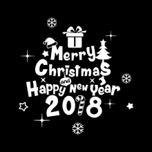 New Arrive Christmsa Wall Sticker New Year 2018 Merry Christmas Wall Sticker Home Shop Windows Decals Decor s2(China)
