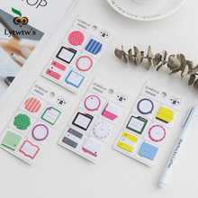 1 Piece Lytwtw's New Creative Korean Kawaii Memo Stickers Sticky Notes Message Pad Cute Post it Diy Office School Stationery(China)