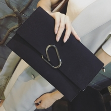 2017 Fashion Trend New Day Clutches Bags Lady Handbag Female Hand Bags Simple Envelope Women Leather Handbags Purse bolsos mujer(China)