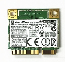SSEA For AzureWave Broadcom BCM94352HMB BCM94352 802.11/ac 867Mbps wifi Half Mini PCI-E DW1550 Wireless Card without Bluetooth(China)