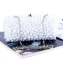Diamonds Clutch Bow Evening Bags Beaded Women Evening Bag Pearl Wedding Bridal With Chains Shoulder Bag carteras mujer