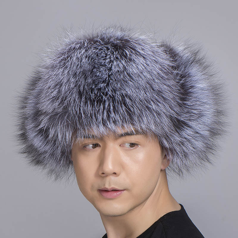 big fur hat silver fox fur 4