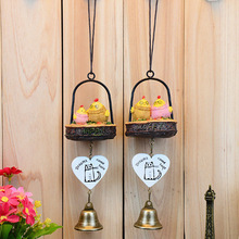 Japanese Chicken Wind Chimes Creative Home Crafts Children New Year Gifts 1pc Hanging Resin Wind Bell Ornaments