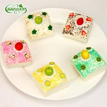 2017 Flores New Design Beautiful Cake Bread Mini Model Fruit Pu Artificial Photography Props Preschool Education Toy For Kids(China)