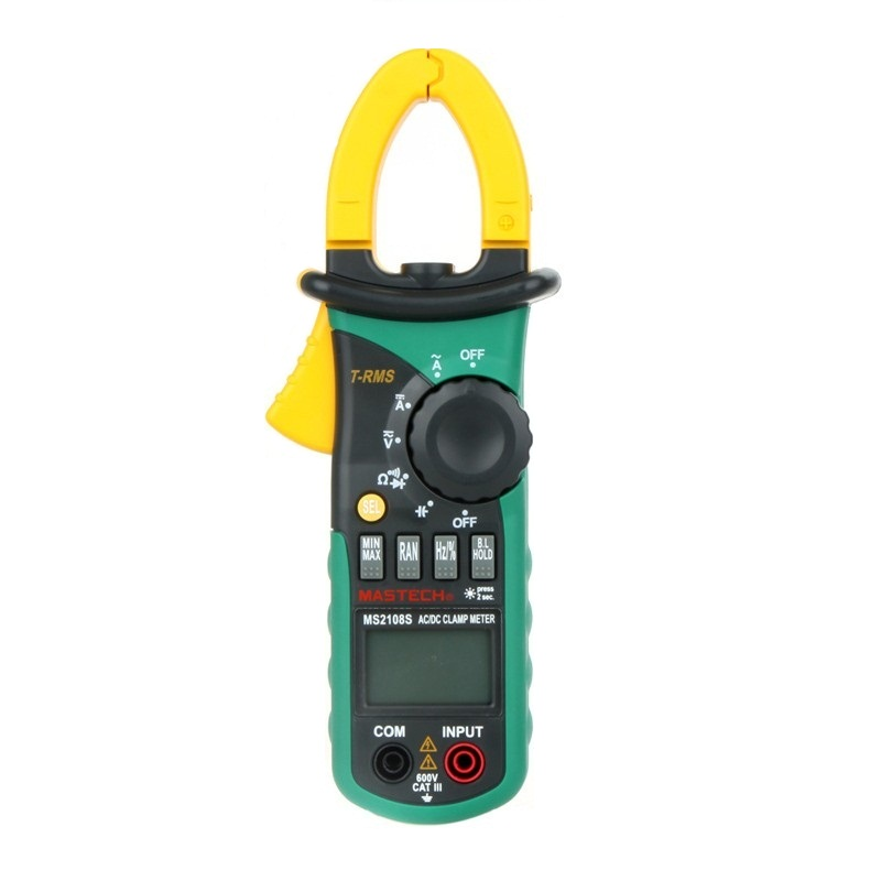 MASTECH MS2108S True RMS Digital AC/DC Current Clamp Meter Multimeter Capacitance Frequency Inrush Current Tester<br>