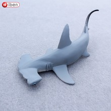 Wiben Sea Life Hammerhead Shark Sphyrna Zygaena Aquatic Creatures Wild Animals Toys Set Zoo Modeling Plastic Solid Fish Model
