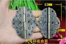 69*53MM Antique Printed Hinge  Metal  Oval Hinge  Large oval hinge  Wholesale