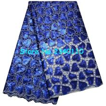 Special Knitted High quality Gold Sequin African Double organza lace with hand cut ,Swiss Cotton Organza with Stones R9155
