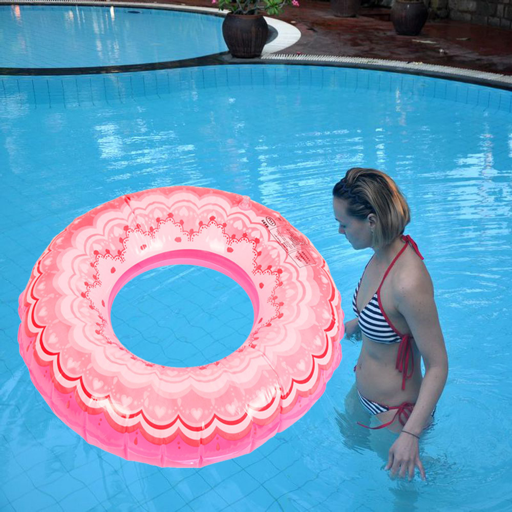2017 Swimming Pool Beach Circle Summer Swimming Ring Inflatable Adult And Kids Children Seaside Swim Train Float Circle #YH30(China)