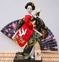 TNUKK 30cm Beautiful Hand made japanese Dancing geisha statue Unique kimono home decoration novelty gifts for friends.(China)