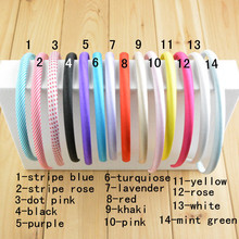 70 pcs/lot , 1cm wide Fabric Plastic Headbands, Hairbands, Fashion Hair Band, Headband, Hair accessories(China)