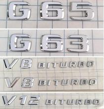 Car-styling Chrome Emblem Badge Decal Trunk Rear Letters for Mercedes Benz G65 G 65 AMG 4MATIC(China)