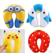 Kawaii Anime Pikachu Duck Fruit Animals Nano Particle U Pillow Movie Figures Comfort Neck Travel Rest Cushion