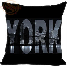 P=W30 Hot Sale New York Brooklyn Bridge &m Pillowcase (One side) Pillow Case Cotton Pillow cover Y1121p-UFP-B(China)
