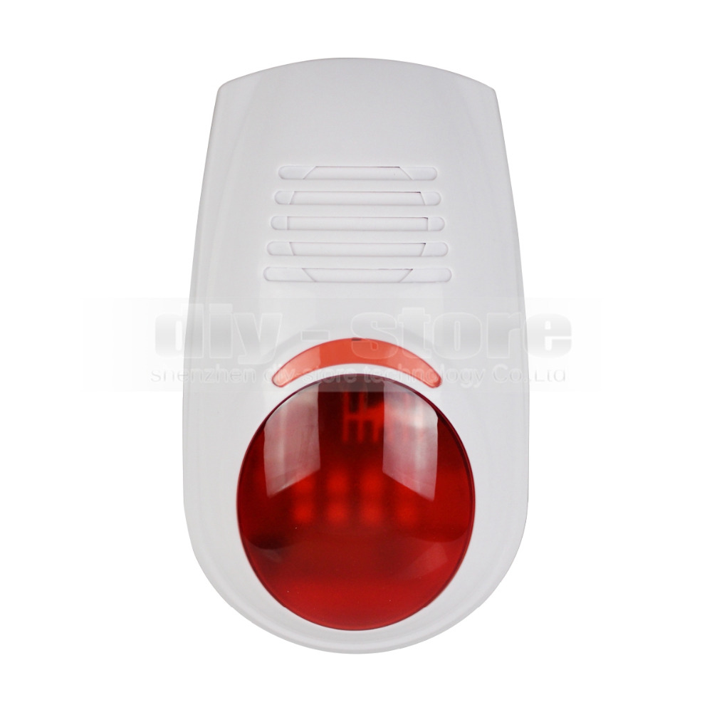 DIYSECUR LB-W03 Wireless Flash external Siren for Our Related Home Alarm Home Security System 433Mhz Strobe Siren<br>