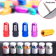 Buy 2Pcs/ Set Bicycle Wheel Tire Covered Protector Road MTB French Tyre Dustproof Bike Aluminum alloy Presta Valve Cap Accessories for $1.45 in AliExpress store
