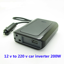 Ultrathin SUVPR 12 v to 220 v car inverter 200W auto voltage converter laptop charger power adapter(China)
