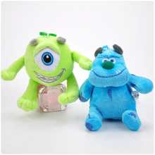 New Arrival 10CM Sullivan Sulley Plush Pendants Mike Wazowski Western Anime Action Figure Toy Collectible Soft Ornament Doll
