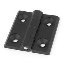 UXCELL 60Mm X 60Mm Square Black Aluminum Window Cabinets Door Hinges(China)