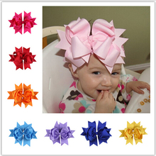 Babies Big Bow Headbands Infant Kids Girls Princess Stretchy Hairwrap 2015 Childrens hair accessories kids headwear(China)