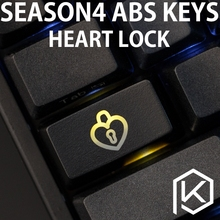 Novelty Shine Through Keycaps ABS Etched, light heart lock black 1.75u capslock custom mechanical keyboard keycaps(China)