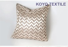 Modern Decorative Handmade Wave Stripe Zig Zag Bamboo Geometric Faux Silk Square Sofa 3D Cushion Cover Throw Pillow Cover Case