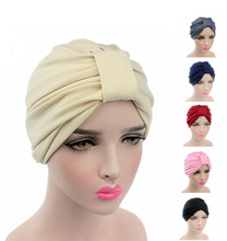 2016 New Fashion Women stretchy cotton turban dome cap head wrap Hijab Hair Loss Cancer Head Scarves Chemotherapy Alopecia Caps(China)