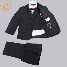 Nimble Boys Suits For wedding Solid Black School Set single breasted Baby Boy Clothes jogging garcon jacket for boy kids blazer(China)