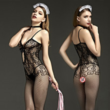 Buy Hot Sexy Bodystockings Sex toys women's erotic lingerie lace sleepwear intimates Kimono Sex products crotchless women Teddies