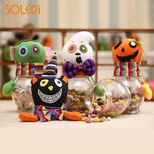 novelty halloween candy jar halloween candy bottle halloween candy box ghost pumpkins plastic storage cans chidren
