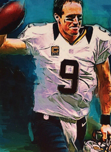 Original ART # DREW BREES NEW ORLEANS SAINTS oil painting--100% hand painted 36 inch- best home Decor(China)