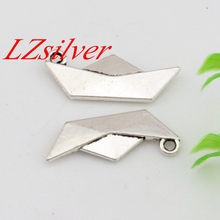Hot Sale !  10pcs 10x25mm Antique silver Zinc Alloy Origami Paper Boat Folding Art Charm  DIY Jewelry A-452