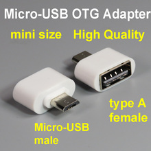 mini size Micro-USB OTG Adapter MicroUSB to USB2.0 A Type Female Converter cable for Android mobile phone to connect disk Flash