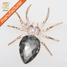 New fashion!China wholesale Fashion gold-plated spider jewelry pin cheap rhinestone brooches for women dresses