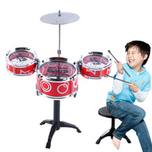 OCDAY Mini Baby Infant Jazz Drum Rock Set Toy Musical Instrument Educational Toy Kids Early Learning Musical Drum Toy(China)