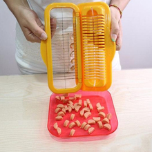 Creative hot dog cut portable ham sausage chopped chopper cutting device