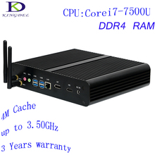 DDR4 RAM Core i7 7500U Kingdel 7th Gen Mini PC Windows10 Kaby Lake Fanless Mini Computer TV Box 4K HD Display HTPC 300M Wifi DHL(China)