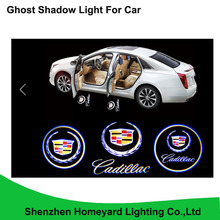 2pc high quality 12V LED car logo door light car welcome lamp wuto laser projector light lamp for Cadillac